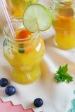Boisson non alcoolisée orange Photo stock