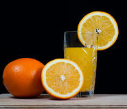 Boisson orange de jus de fruit, soude, Image libre de droits