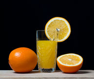 Boisson orange de jus de fruit, soude, Photos stock