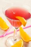 Boisson rouge avec la tequila photo libre de droits