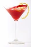 Boisson rouge de cocktail avec le citron et le paprika photo libre de droits