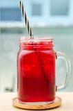 Boisson rouge de glace Images libres de droits