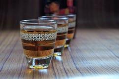 Boisson traditionnelle d'alcool de Timoshenko Honduras - vue latérale - image horizontale photographie stock