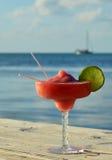 Boisson tropicale au bord de la mer Image stock