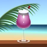 Boisson tropicale de cocktail illustration libre de droits