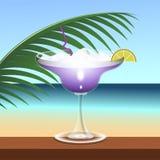 Boisson tropicale de cocktail illustration de vecteur