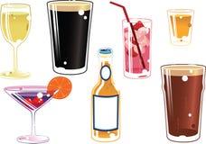 Boissons alcoolisées assorties Images libres de droits
