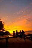 Boissons au coucher du soleil Images libres de droits