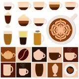 Boissons chaudes - café, thé, chocolat Images libres de droits
