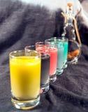 Boissons colorées Images libres de droits