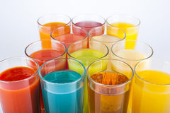 Boissons colorées photo stock