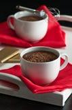 Boissons de chocolat chaud Image libre de droits