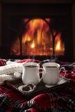 Boissons de chocolat chaud Photo stock