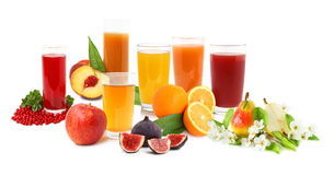 Boissons de fruit Photographie stock libre de droits
