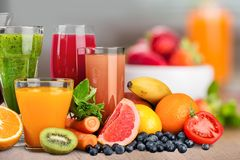 Boissons de fruit Photo stock