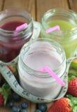 Boissons de yaourt de Smoothie Image libre de droits