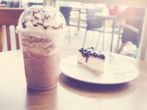 Boissons froides de smoothie de café de chocolat Photos stock