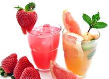 Boissons non alcoolisées avec le fruit Photographie stock