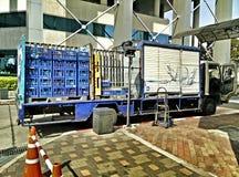 Boissons non alcoolisées de camion de livraison Images libres de droits