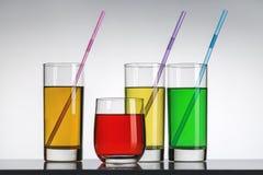 Boissons non alcoolisées multicolores photo libre de droits