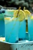 Boissons régénératrices d'été de limonade de myrtille Photo libre de droits