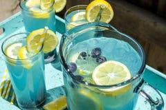 Boissons régénératrices d'été de limonade de myrtille Photos libres de droits