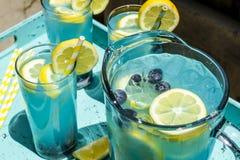 Boissons régénératrices d'été de limonade de myrtille Photos stock
