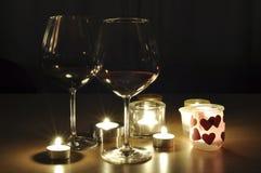 Boissons romantiques Photo libre de droits