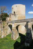 Coudray Tower. Fortress. Chinon. France Stock Images