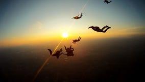 Boituva, São 2018年10月6日的保罗巴西:4个专业飞将军队从降伞跳 股票录像
