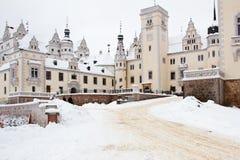 boitzenburg城堡uckermark 免版税库存照片