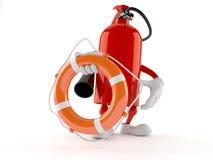 Boj för liv för brandsläckaretecken hållande vektor illustrationer