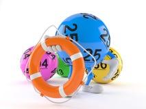 Boj för liv för lottobolltecken hållande vektor illustrationer