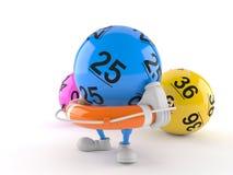 Boj f?r liv f?r lottobolltecken h?llande vektor illustrationer