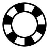 Boj Lifesaverskårasymbol Arkivfoton