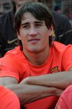Bojan Krkic. Close-up view of young Bojan Krkic of FC Barcelona sitting. FC Barcelona partners with Malaria No More and American Youth Soccer Organization (AYSO Stock Images