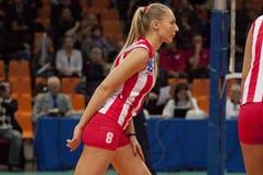 Bojana Radulovic. Crvena Zvezda team Royalty Free Stock Image