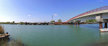 Bojana River Bridge Fotografía de archivo