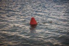 Boje auf See Stockfoto