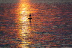 Boje im Ozean Stockfotos