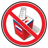 Bojkot wybory ilustracji