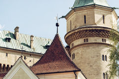 Bojnice城堡,斯洛伐克细节照片  免版税库存图片