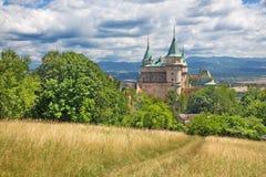 Bojnice -其中一座最美丽的城堡在斯洛伐克 库存图片