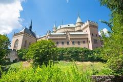 Bojnice -其中一座最美丽的城堡在斯洛伐克 免版税库存图片