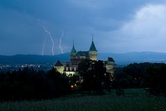 Bojnice Castle Stock Photo