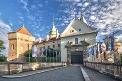 Bojnice castle entrance royalty free stock photos
