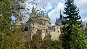 Bojnice castle in the middle of Slovakia royalty free stock images