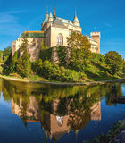Bojnice Castle with a Moat Stock Image
