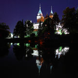 Bojnice castle in the night Royalty Free Stock Image