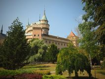 BOJNICE Castle - is one of the most visited castles in Slovakia. Very nice place for relax stock images
